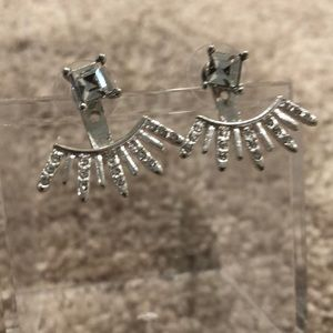 NWOT Silver Jacket Earrings